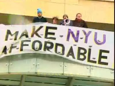 NYU Protest Sign