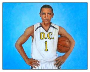 Obama with Basketball