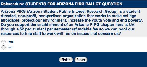 PIRG Question