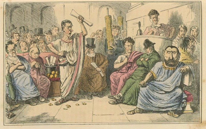"Source: Leech, John. ""The Comic History of Rome."""